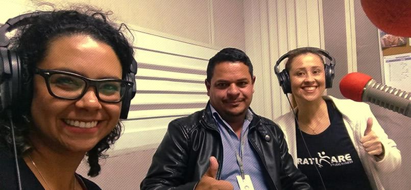 Ju Freesz e Dane Gusmão em entrevista para a Rádio América, Belo Horizonte, julho 2018